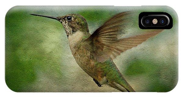 Hummingbird In Flight II IPhone Case