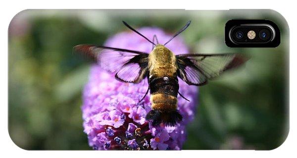 Hummingbird Moth Phone Case by Janet Pugh
