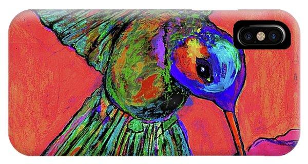 Hummingbird On Red IPhone Case