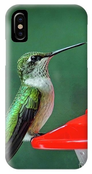 Hummingbird Portrait IPhone Case