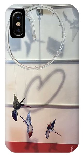 Hummingbird Shadows IPhone Case