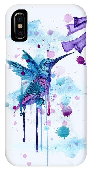 Hummingbirds iPhone Case - Hummingbird Skeleton 2.0 by Ludwig Van Bacon