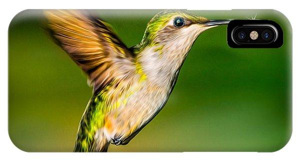 Hummingbird Sparkle IPhone Case