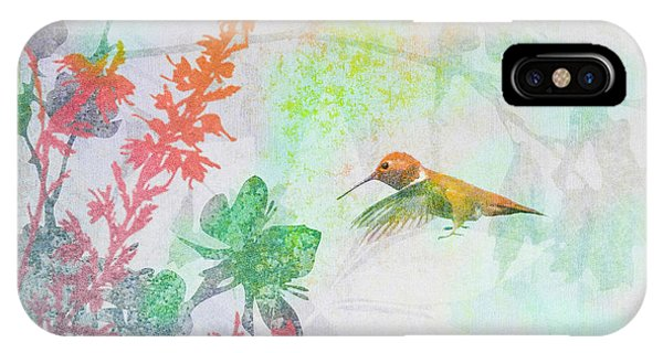 Hummingbird Summer IPhone Case