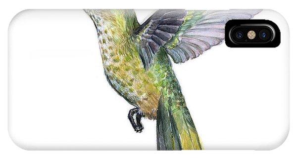 Hummingbirds iPhone Case - Hummingbird Watercolor Illustration by Olga Shvartsur