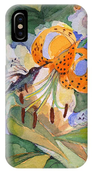 Hummingbird With Flowers IPhone Case