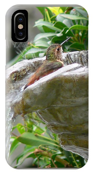Hummingbirds Do Take Baths IPhone Case