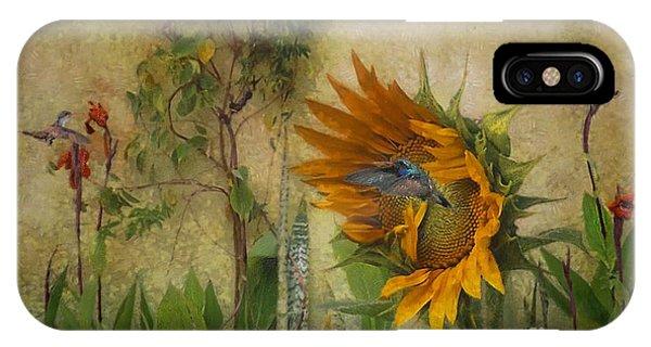 Hummingbirds In My Garden IPhone Case