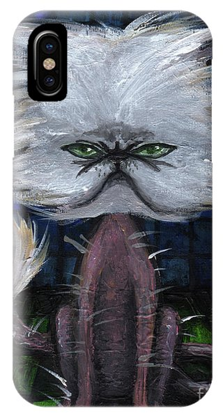 Humorous Cat IPhone Case