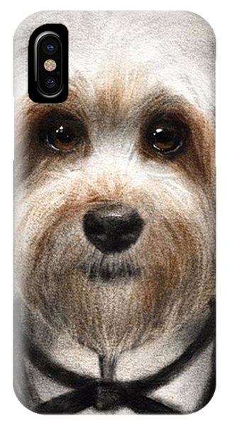 iPhone Case - Humorous Dressed Dog Painting By by Svetlana Novikova
