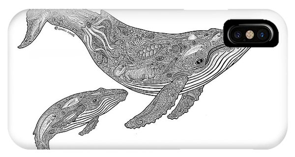 Whale iPhone Case - Humpback And Calf by Carol Lynne