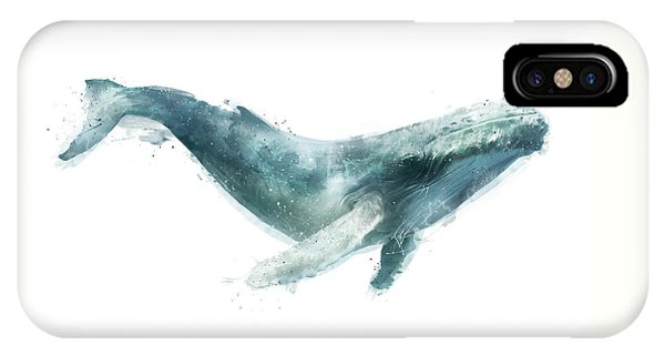 Whale iPhone Case - Humpback Whale From Whales Chart by Amy Hamilton
