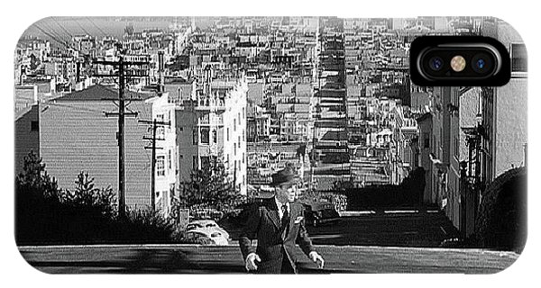Humphrey Bogart Film Noir Dark Passage Telegraph Hill And Coit Tower San Francisco 1947 IPhone Case