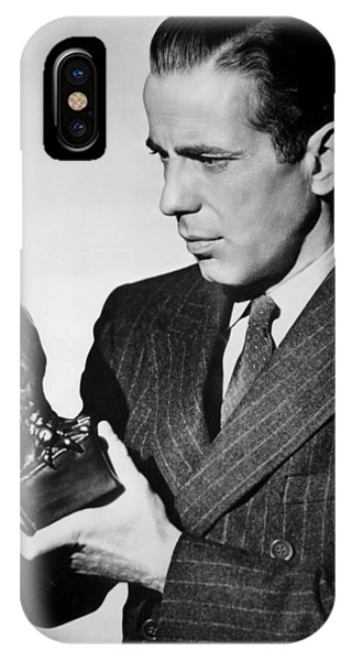 Humphrey Bogart Holding Falcon The Maltese Falcon 1941  IPhone Case