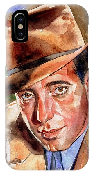 Old World iPhone Case - Humphrey Bogart Portrait by Suzann Sines