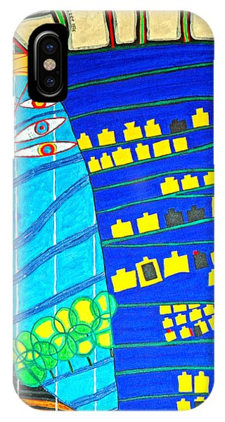 Hundertwasser Blue Moon Atlantis Escape To Outer Space IPhone Case