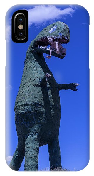 Timeworn iPhone Case - Hungry Dinosaur Head In The Clouds by Garry Gay