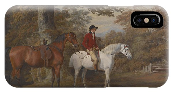 Horseman iPhone Case - Hunter And Huntsman by George Gerrard