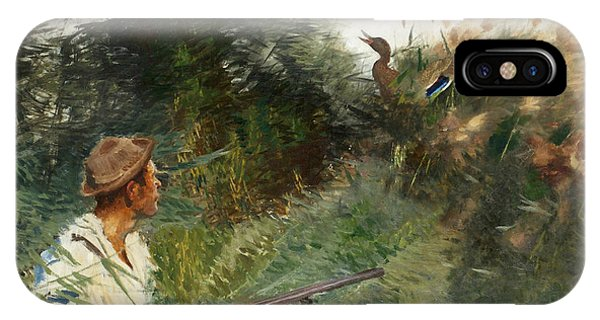 Swedish Painters iPhone Case - Hunter And Mallards by Bruno Liljefors