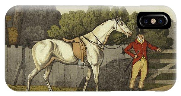 White Horse iPhone Case - Hunter by Henry Thomas Alken
