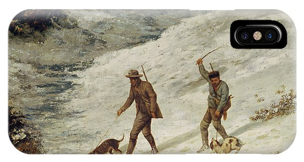 Hunters In The Snow Or The Poachers IPhone Case