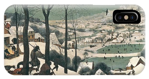 Hunting iPhone Case - Hunters In The Snow by Pieter the Elder Bruegel