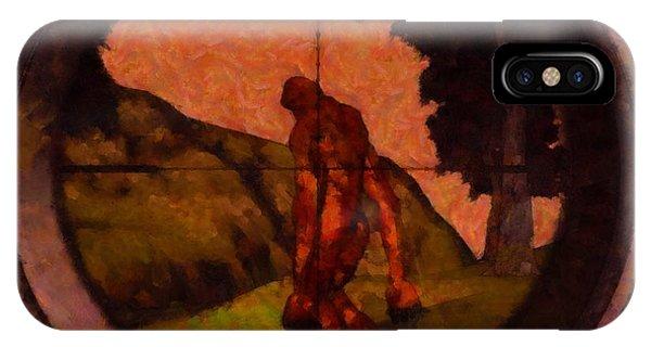 Strange iPhone Case - Hunting Bigfoot by Esoterica Art Agency