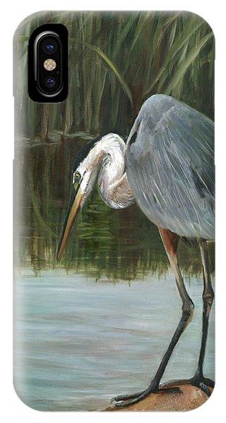 iPhone Case - Fishing Heron by Karen Langley
