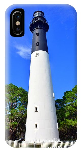 IPhone Case featuring the photograph Hunting Island Lighthouse Beaufort Sc by Lisa Wooten