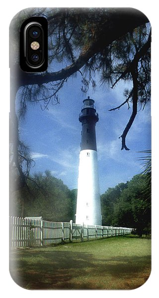 Lighthouse Wall Decor iPhone Case - Hunting Island Lighthouse Sc by Skip Willits
