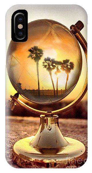 Huntington Beach Globe IPhone Case