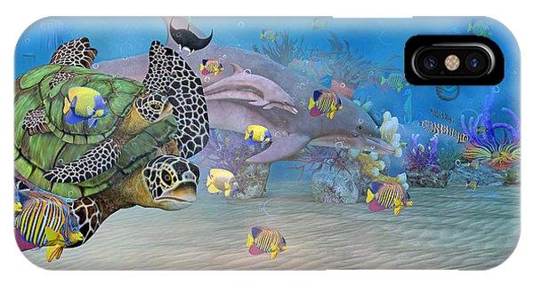 Reef iPhone Case - Huntington Beach Imaginative  by Betsy Knapp