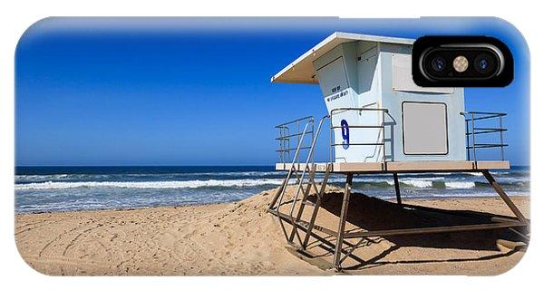 California iPhone Case - Huntington Beach Lifeguard Tower Photo by Paul Velgos