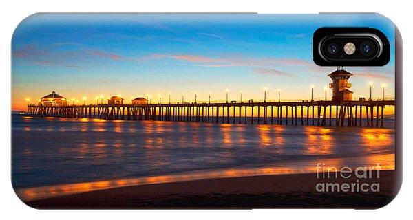 Huntington Beach Pier - Twilight IPhone Case