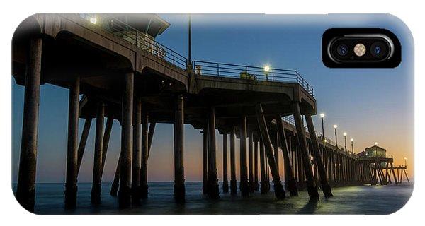 Huntington Beach Pier At Dusk IPhone Case