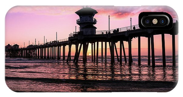 Huntington Pier At Sunset 2 IPhone Case