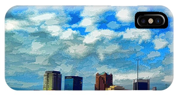 Huntsville Alabama Skyline Abstract Art IPhone Case