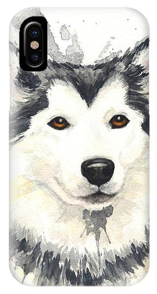 Sled Dog iPhone Case - Husky by Kathleen Wong