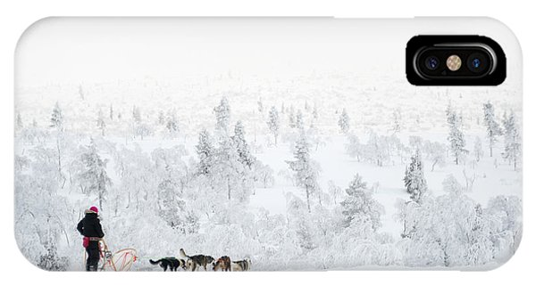 Sled Dog iPhone Case - Husky Safari by Delphimages Photo Creations