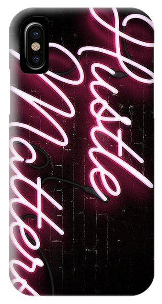 Neon iPhone Case - Hustle Matters by Canvas Cultures