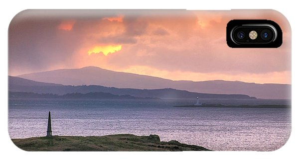 Hutcheson's Monument On The Isle Of Kerrera At Sunset IPhone Case