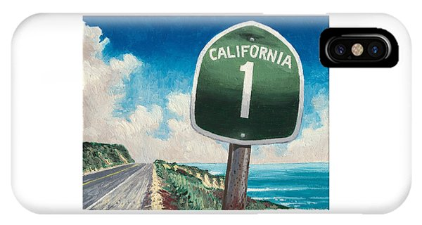 Santa Cruz Surfing iPhone Case - Hwy 1 by Andrew Palmer