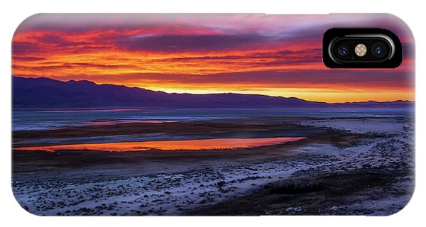 Hwy 395 Sunrise Phone Case by Steve Spiliotopoulos