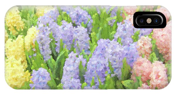 IPhone Case featuring the photograph Hyacinth Flowers In The Spring Garden by Jennie Marie Schell
