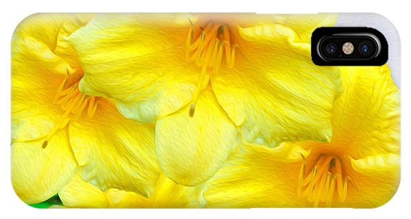 Hybrid iPhone Case - Hybrid Daffodils by Laura D Young