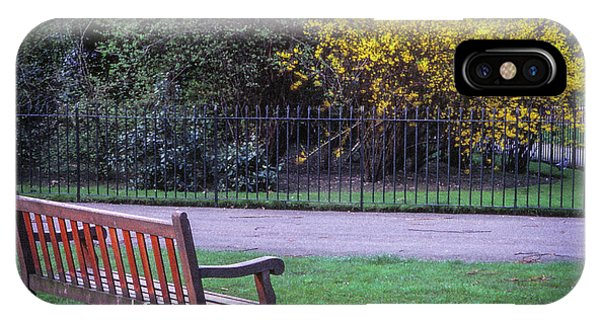 Hyde Park Bench - London IPhone Case
