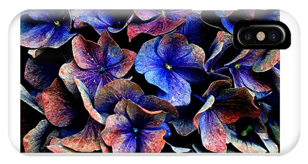 IPhone Case featuring the digital art Hydranga Hues by Julian Perry