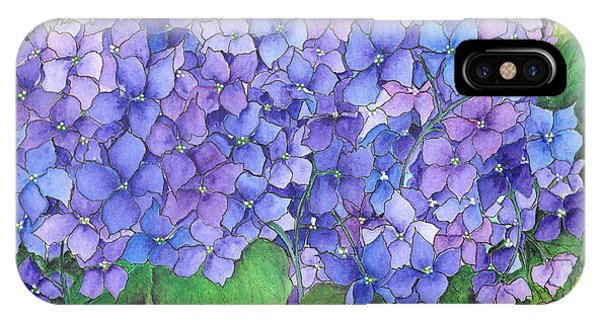 Hydrangea Purple Blue IPhone Case