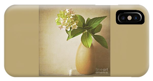 Hydrangea With Leaves IPhone Case