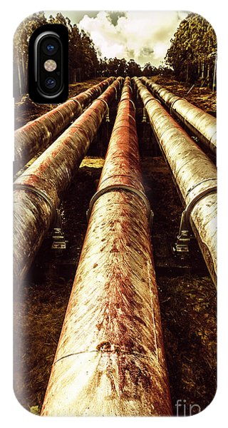 Industry iPhone Case - Hydroelectric Pipeline by Jorgo Photography - Wall Art Gallery